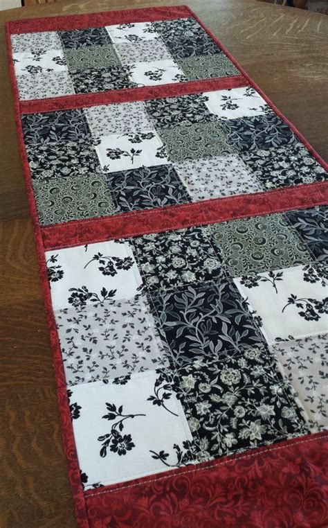 country table runner quilted table runner traditional shabby chic country