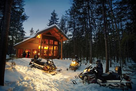 Snowmobile Cabin by Winter Activities In Maine New Inns And Resorts