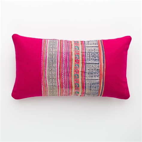 with pillows vintage hmong pillow pink wool vintage repurposed accessories