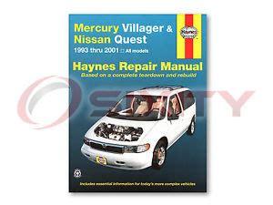 automotive repair manual 1997 nissan quest free book repair manuals nissan quest haynes repair manual gle xe se gxe shop service garage book iz ebay