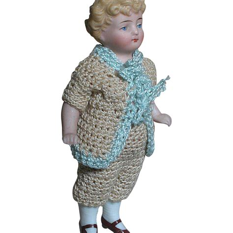 bisque doll molded hair german all bisque dollhouse doll molded hair features