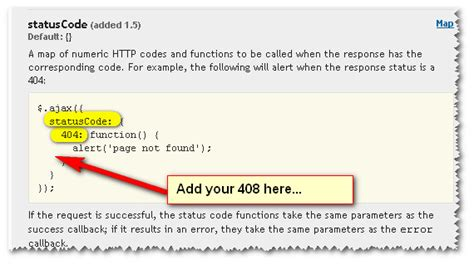 Code Section 408 by In Jquery Ajax How Do I Handle A Http 408 Error Properly