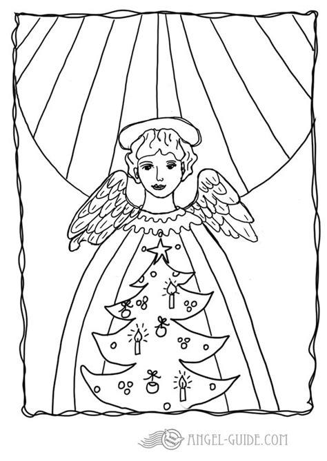 christmas tree angel coloring page christmas angel coloring pages 6 angel with christmas tree