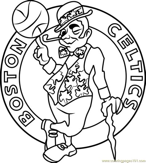 celtics basketball coloring pages boston celtics coloring page free nba coloring pages