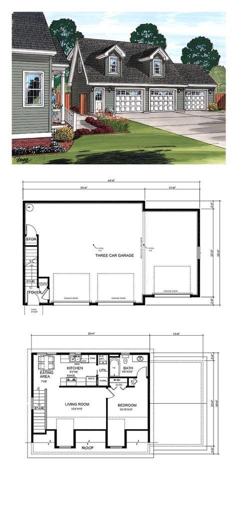 Garage Apartment Plans 1 Bedroom by Best 25 Two Car Garage Ideas On