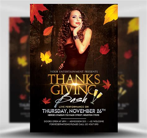 Thanksgiving Club Flyer Template Flyerheroes Club Flyer Template