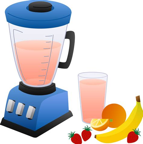 Kitchen Blender Clipart Blender With Fruits And Smoothie Free Clip