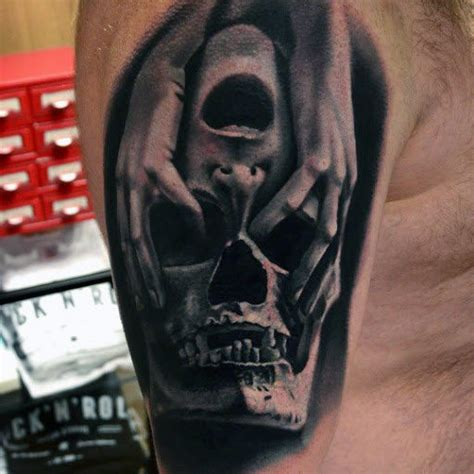 tattoo 3d caveira top 80 best skull tattoos for men manly designs and ideas
