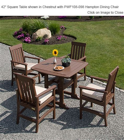 envirowood outdoor furniture envirowood outdoor poly furniture seaside casual portsmouth square dining table