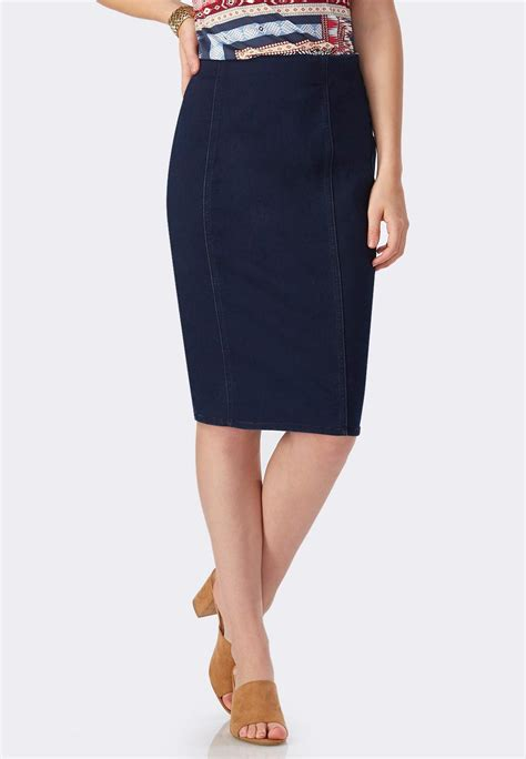 colored pencil skirts pull on denim pencil skirt plus skirts cato fashions