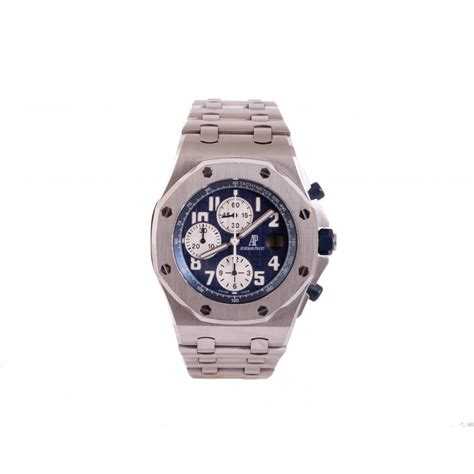 Audemars Piguet Royal Oak Offshore Autometic gentlemen s audemars piguet royal oak offshore navy automatic chronograph on stainless steel