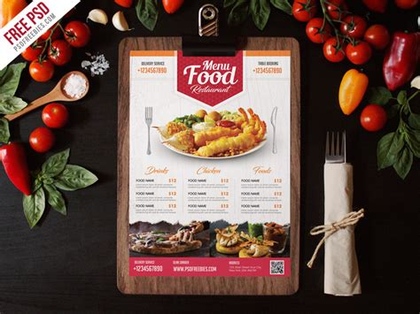 food flyer template simple restaurant food menu flyer template psd
