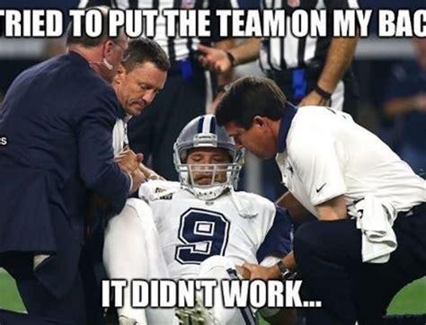 Tony Romo Injury Meme - the internet roasted tony romo with hilarious memes after