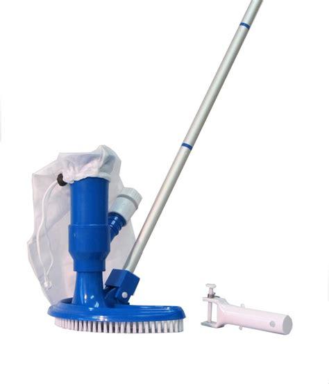 how to vacuum swimming pool spa jet vacuum w brush bag hose adaptor