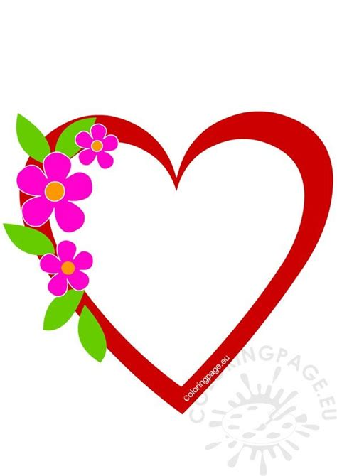 heart frame clip art coloring page