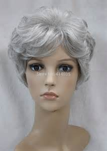 frizzy aged hair short wigs for older women reviews online shopping