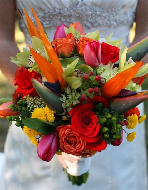 Tropical Wedding Flowers by Tropical Bridal Bouquet So Quot Just Right Quot For A