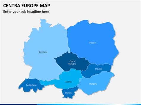 map of central europe central europe map powerpoint sketchbubble