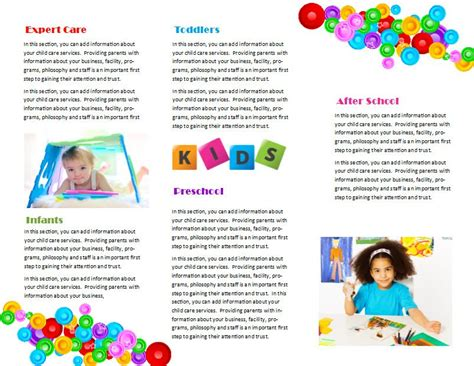child care brochure template free child care brochure template 7 child care owner