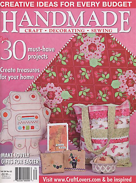 Handmade Magazine - friendship wishes article in handmade magazine greig
