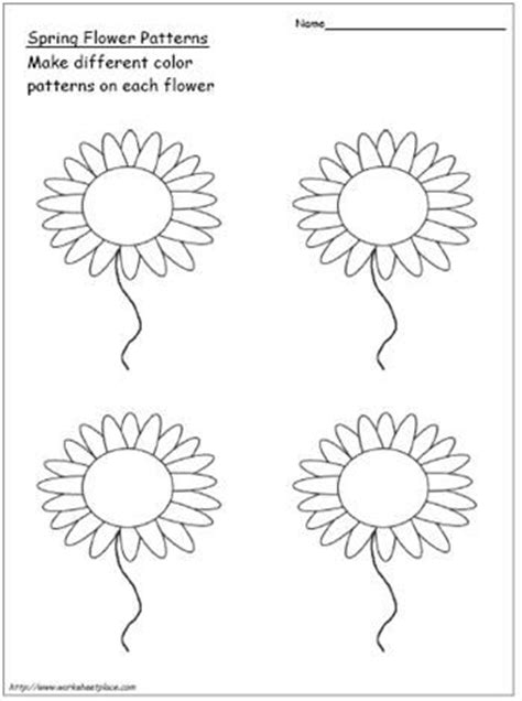 flower pattern for preschool spring flower patterns in math color each petal to make a
