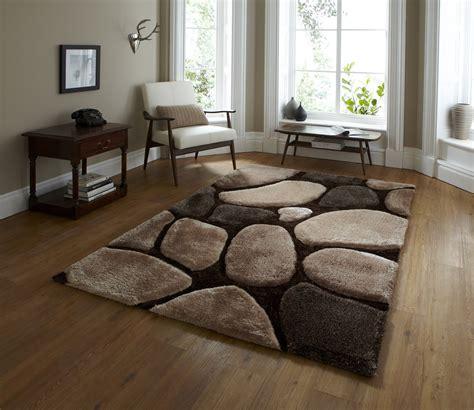Living Room Carpet Pile Tufted Soft Pebble Effect Rug Noble House