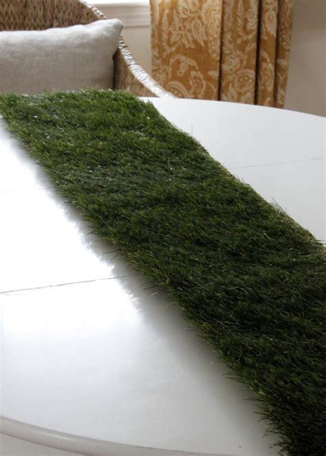 artificial grass table runner diy grass tablerunner hgtv