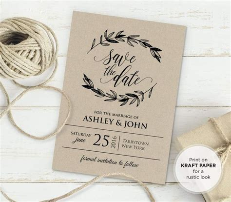 rustic wedding invitations templates the 25 best free wedding invitation templates ideas on