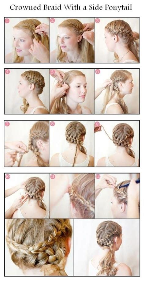 25 hairstyles with tutorials for 20 amazing braided hairstyles tutorials to be ponytail