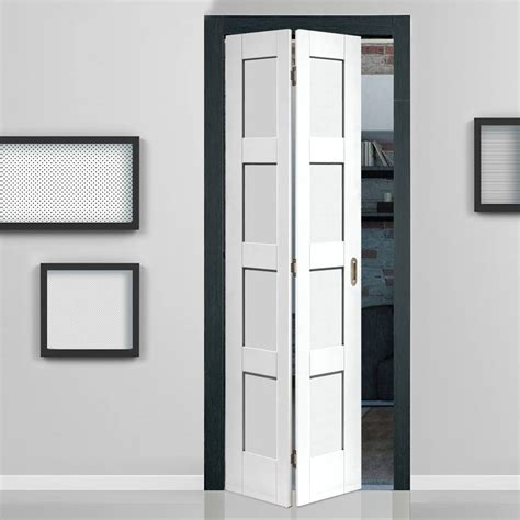 how much are closet doors shaker white primed 4 panel bifold door bi fold