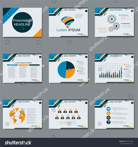 Professional Business Presentation Slide Show Vector Stock Vector 601473188 Shutterstock Cut Pro Photo Slideshow Template Free