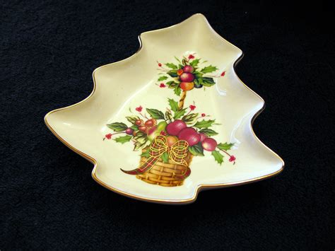 christmas tree candy dish lenox tartan pattern tree dish lenox