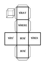 printable question dice english worksheets wh questions dice