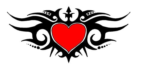 tribal heart band tattoo stencil tattooshunt com