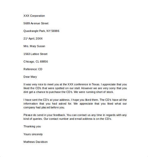 Business Letter Exles Doc word business letter template 6 sles of business letter