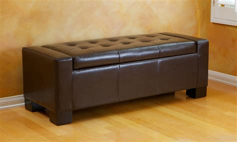 rothwell storage bench ottoman tufted leather storage bench ottoman groupon