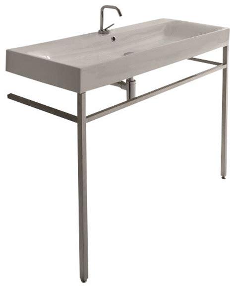 Free Standing Sink Bathroom Cento 3534 9123k1 Free Standing Sink 47 2 Quot X 17 7 Quot Contemporary Bathroom Sinks By Modo Bath