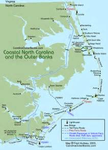 map of carolina outer banks nc coastal guide map