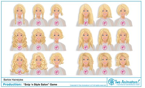 hairstyles games of barbie two animators animation studio blog barbie s new hairstyles
