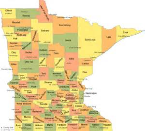 City Of Mn Minnesota County Map