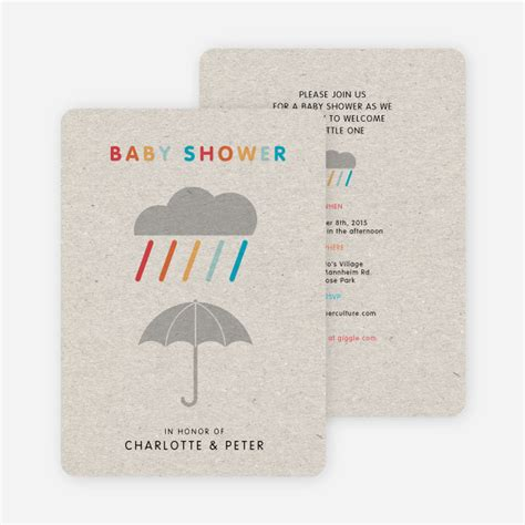 Baby Shower Paper Products by Colorful Shower Baby Shower Invitations Paper Culture