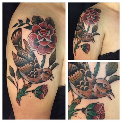 triple crown tattoo my nightingale and roses expertly crafted by