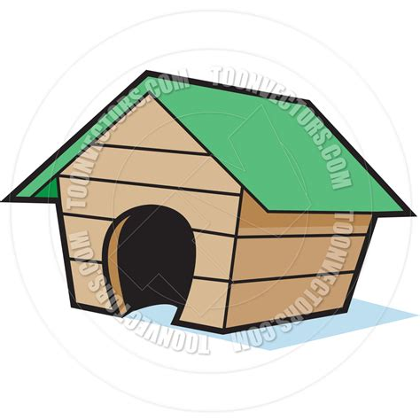 cartoon dog houses cartoon empty dog house by kenbenner toon vectors eps 6062