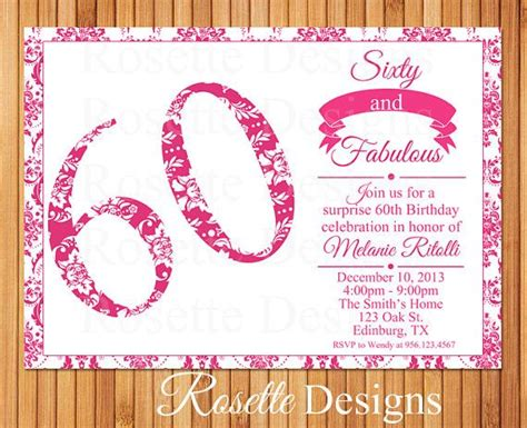 printable 60th birthday party invitations best 25 60th 11 best images about meme s turning 60 on pinterest