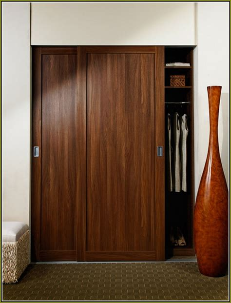 Wood Closet Doors The Functional Of Wood Sliding Closet Doors Interior Decorations