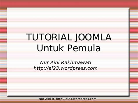tutorial joomla ppt tutorial joomla