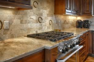 custom full height backsplash with horseshoe prints