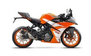 New Duke Ktm Ktm Rc 390 Rc 200 And Rc 125 Get New Livery For 2017