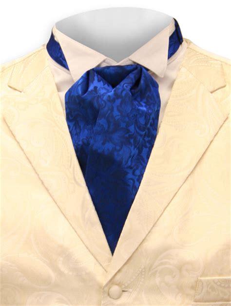 silk puff tie royal blue