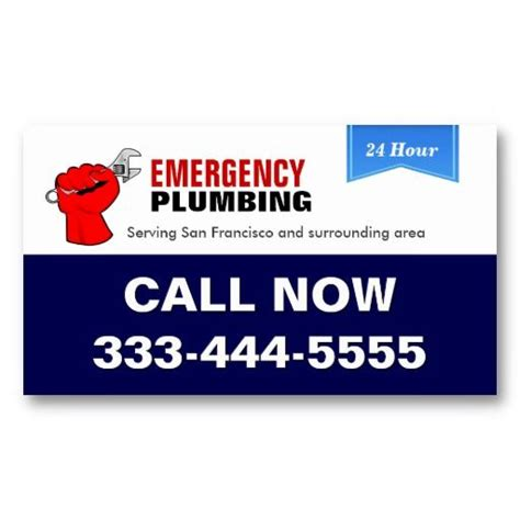 Emergency Plumbing Services by 17 Best Images About 24 Hour Business Cards On